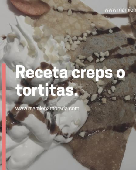 Receta de tortitas o creps.